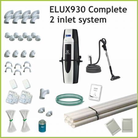 Elux930 Complete Central Vacuum With 2 Inlet Kits And A 9m