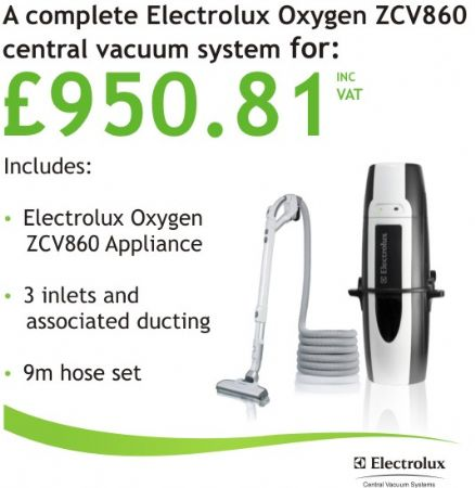 Electrolux Oxygen Zcv860 Complete Central Vacuum System